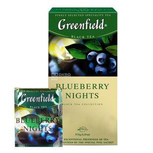 Greenfield, Blueberry Nights, 25 пак., Чай Гринфилд, Блюберри найтс, черный с черникой