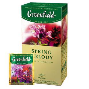 Greenfield, Spring Melody, 25 пак., Чай Грінфілд, Спрінг Мелоді, чорний