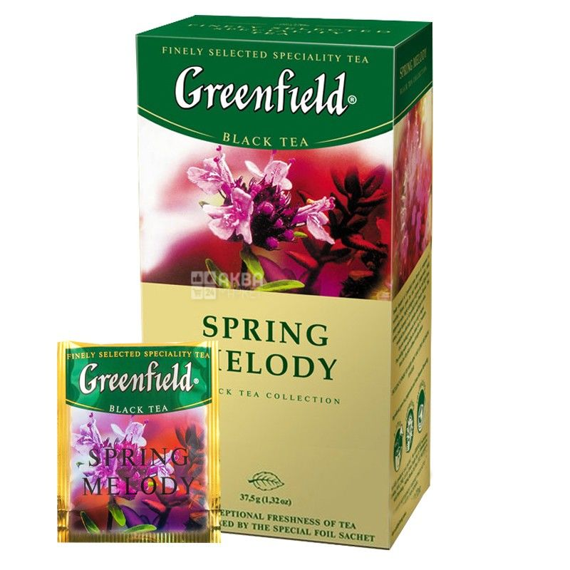 Greenfield, Spring Melody, 25 пак., Чай Гринфилд, Спринг Мелоди, черный