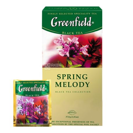 Greenfield, 25 шт., чай черный, Spring Melody