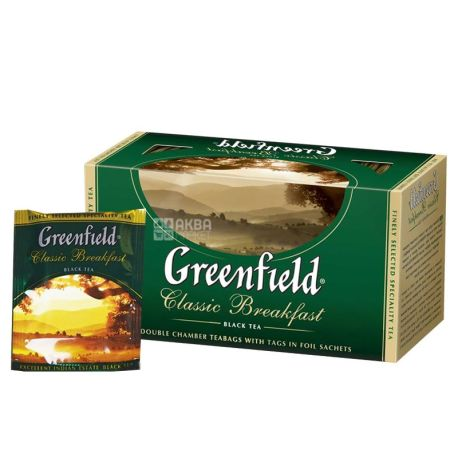Greenfield, Classic Breakfast, 25 пак., Чай Гринфилд , Классик Брекфаст, черный