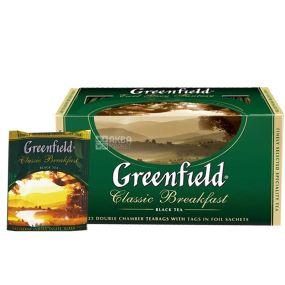 Greenfield, Classic Breakfast, 25 пак., Чай Гринфилд , Классик Брекфаст, черный