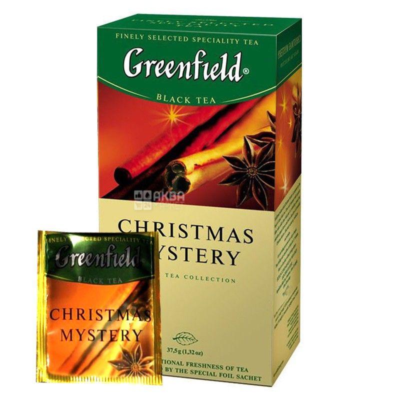 Greenfield, Christmas Mystery, 25 пак., Чай Гринфилд, Кристмас Мистери, черный