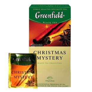 Greenfield 25 pcs., Tea Black, Christmas Mystery