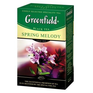 Greenfield, 100 g, black tea, Spring Melody