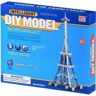 Same Toy Inteligent DIY Model, Конструктор металлический, Эйфелева башня, 352 детали, с 8 лет