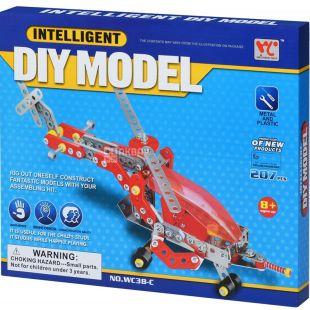 Same Toy Inteligent DIY Model, Конструктор металлический, Самолет, 207 деталей, с 8 лет