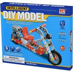 Same Toy Inteligent DIY Model, Конструктор металлический, Мопед, 195 деталей, с 8 лет