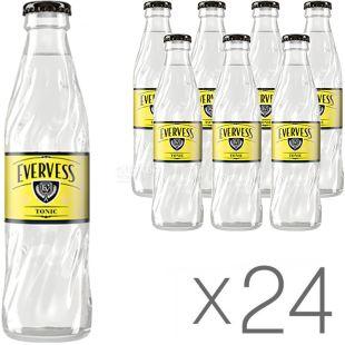 Evervess Tonic, Упаковка 24 шт, по 0,25 л, Эвервес тоник, Вода сладкая, сильногазированная