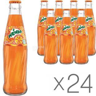 Mirinda Orange, Упаковка 24 шт, по 0,25 л, Миринда, Вода сладкая со вкусом апельсина, газированная, стекло