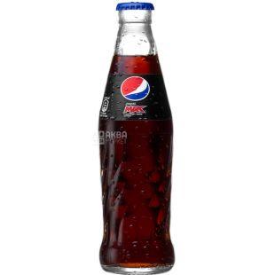 Pepsi-Cola max, 0,25 л, Пепси-кола, Вода газированная, без сахара, стекло