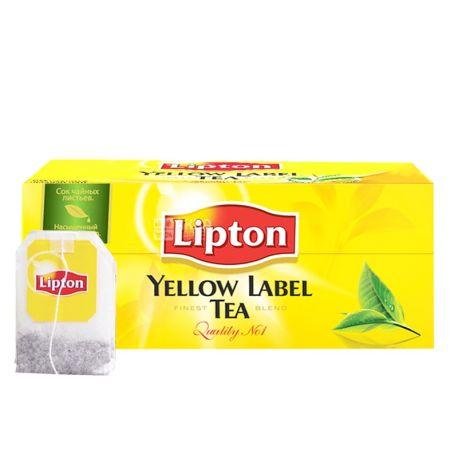 Lipton, 25 шт., чай черный, Yellow Label
