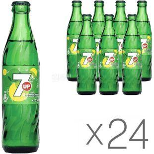 7UP, Упаковка 24 шт, по 0,25 л, Севен ап, Вода сладкая, газированная, стекло