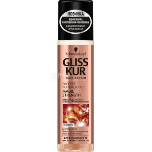 Gliss Kur, Magic Strength, 200 мл, Экспресс-кондиционер для ослабленных и истощенных волос