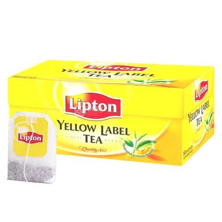 Lipton, Yellow Label, 50 пак., Чай Липтон, Черный