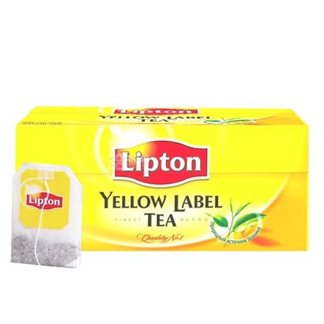 чай Lipton Yellow Label черный 50 пакетов