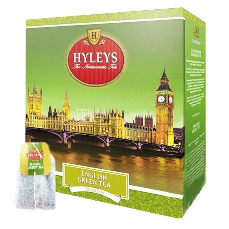 Hyleys English Green Tea, 100 пак, Чай зеленый Хэйлис Инглиш Грин Ти