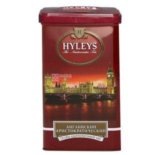 Hyleys, 125 g, black tea, English Aristocratic, iron can