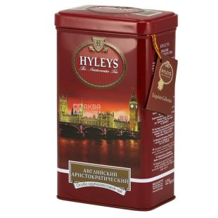 Hyleys, 125 g, black tea, English Aristocratic, iron can