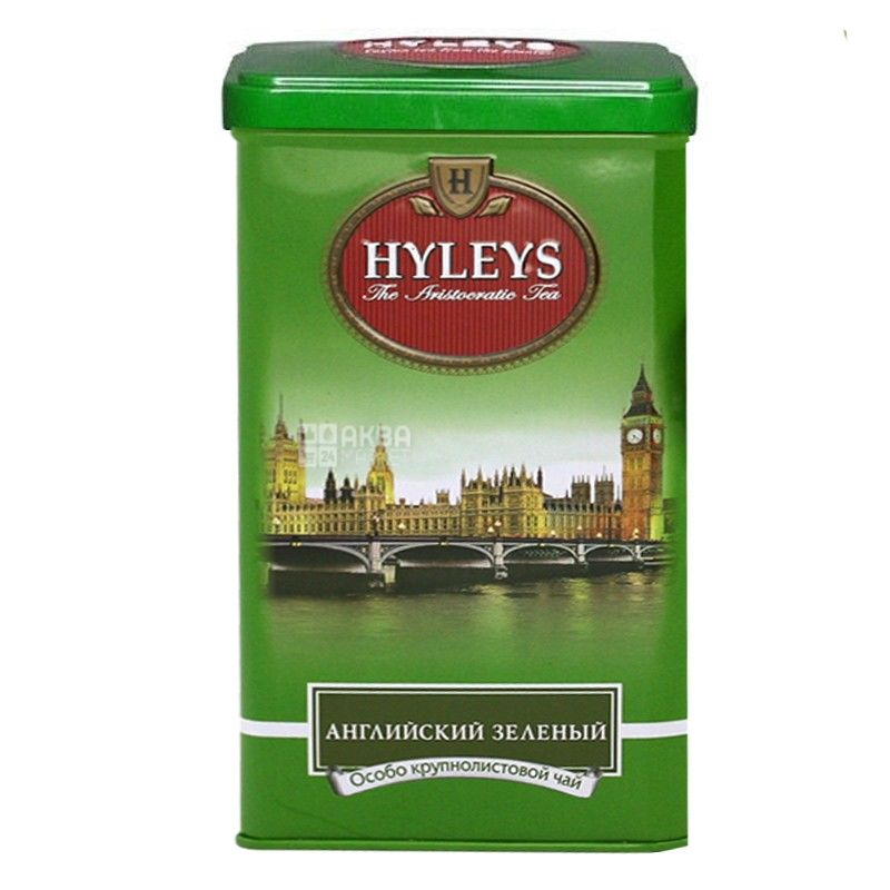 Hyleys English Green Tea, 125 г, Чай зелений Хейліс Інгліш Грін Ті, ж/б