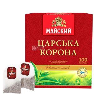 Майский, Царская Корона, 100 пак., Чай черный, мелкий
