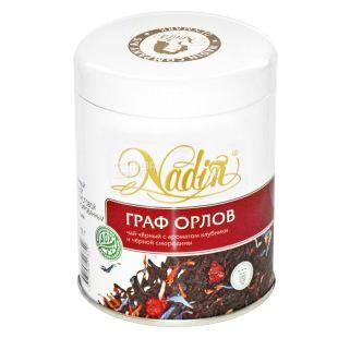 Nadin, Граф Орлов, 200 г, Чай Надін, чорний з ароматом полуниці та чорної смородини