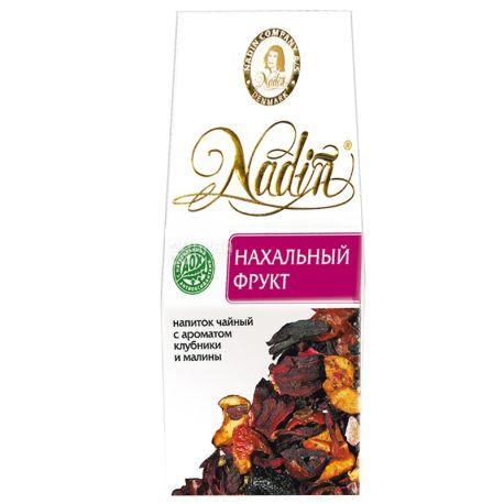 Nadin, Нахабний фрукт, 50 г, Чай Надін, фруктовий з ароматом полуниці та малини