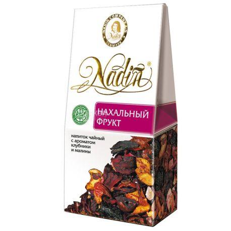Nadin, Наглый фрукт, 50 г, Чай Надин, фруктовый с ароматом клубники и малины