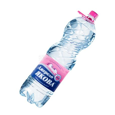 Dzherelo Yakov, 1.5 L, Highly Carbonated Water, Mineral, PET, PAT