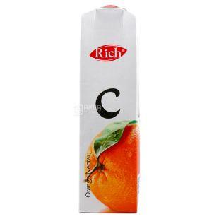 Rich, Апельсиновий, 1 л, Річ, Нектар натуральний, з м'якоттю