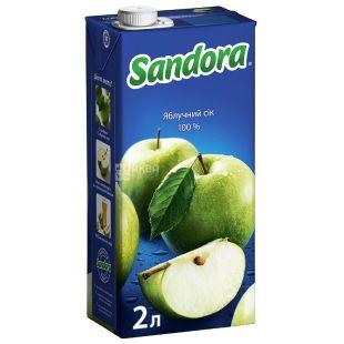 Sandora, Яблочный, 2 л, Сандора, Сок натуральный