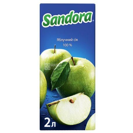 Sandora, 2 л, сок, Яблочный, м/у