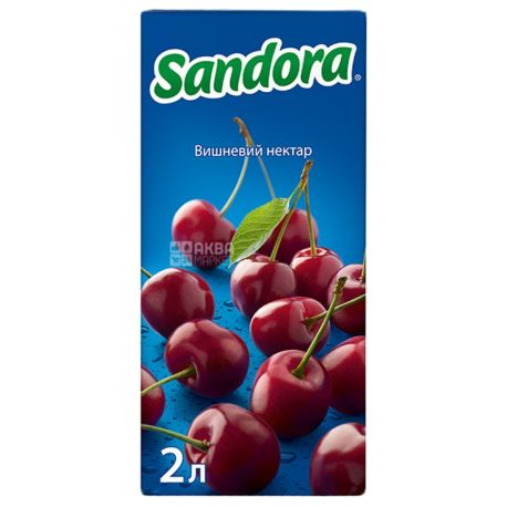 Sandora, Вишневый, 2 л, Сандора, Нектар натуральный