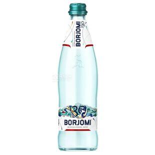 Borjomi, 0,5 л, Боржомі, Вода мінеральна сильногазована, скло