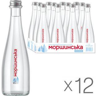 Моршинська Premium, 0,33 л, Упаковка 12 шт., Вода мінеральна негазована, скло