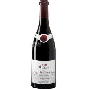 Domaine Bertagna, Bourgogne Hautes Cotes de Nuits Les Dames Huguettes, 0,75 л, Вино червоне сухе