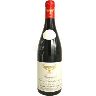 Gros Frere et Soeur, Bourgogne Hautes Cotes De Nuits, 0,75 л, Вино червоне сухе