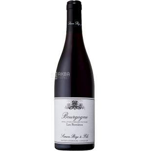 Simon Bize et Fils, Bourgogne Les Perrieres, 0,75 л, Вино червоне сухе