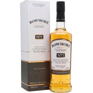 Bowmore No.1 Malt, 0,7 л, Віскі односолодовий, подарункова упаковка