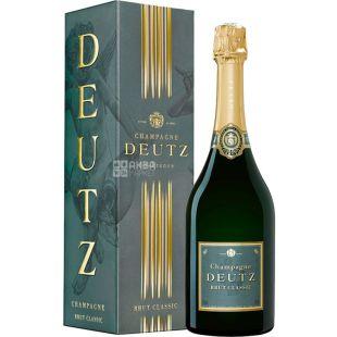 Deutz, Brut Classic, 0,75 л, Вино біле ігристе, брют, подарункова упаковка