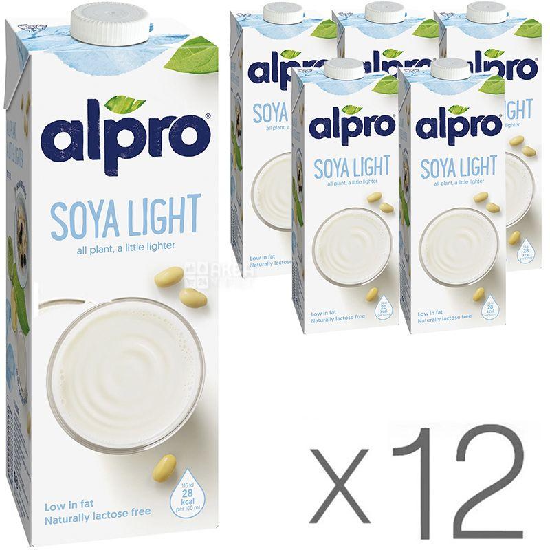Alpro Soya Light, Packing 12 pcs. on 1 l, Drink soy Light
