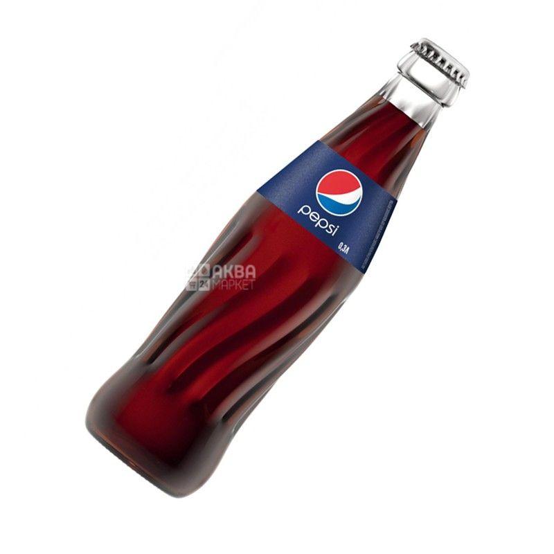 Pepsi-Cola, 0,33 л, Пепсі-Кола, Класична, Вода солодка, скло