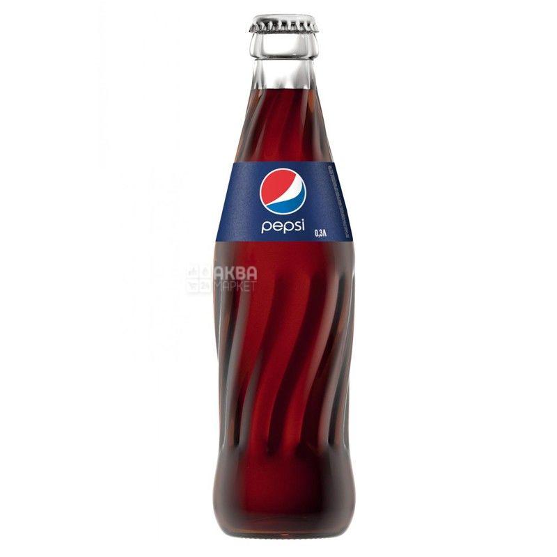 Pepsi-Cola, 0,33 л, Пепси-Кола, Классическая, Вода сладкая, стекло