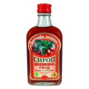 Healthy homeland, Rosehip Syrup, Hawthorn, 0.25 l, glass