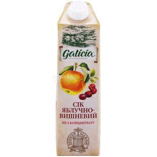 Galicia, 1 л, сік, Яблучно-вишневий, м/у