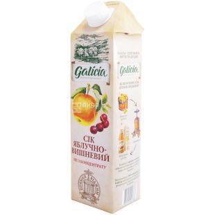 Galicia, 1 л, сок, Яблочно-вишнёвый, м/у