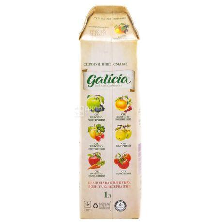 Galicia, Яблучно-чорносмородиновий, 1 л, Галіція, Сік натуральний, без додавання цукру