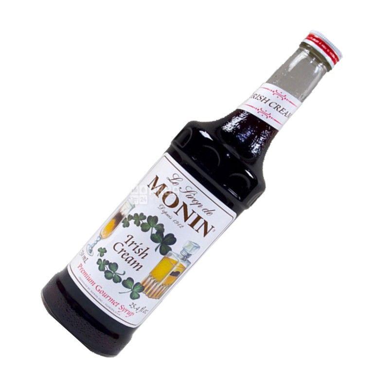 Monin, Irish cream, 0,7 л, Сироп Мониін, Ірландський крем, скло
