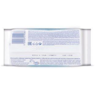 Kleenex, Clean Care, 42 аркуша, туалетний папір Клінекс, Вологий