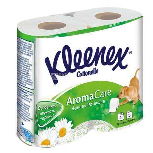 Kleenex Aroma Care, 4 рул., Туалетний папір Клинекс Арома Кеа, 3-х шаровий